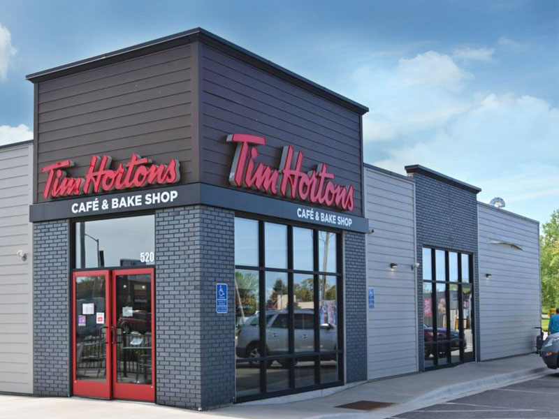 Exterior view of Tim Horton's